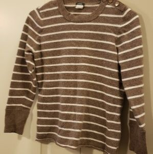 Light brown and white stripes J. Crew sweater